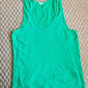 J Crew Green Cotton sleeveless tank top cami